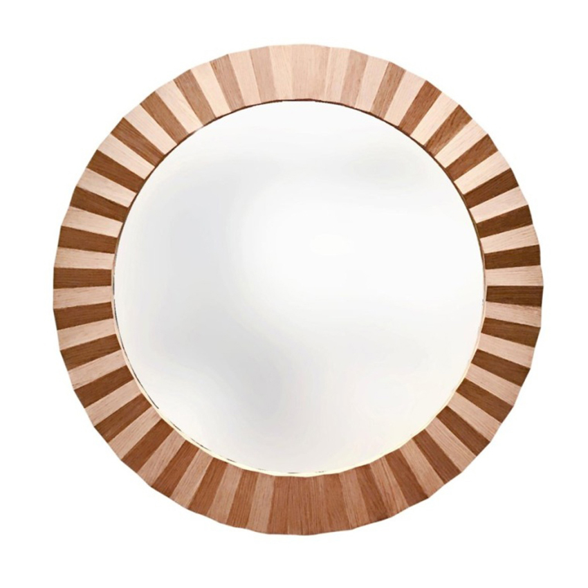 Philos Capsule Round Mirror Light Teak Large