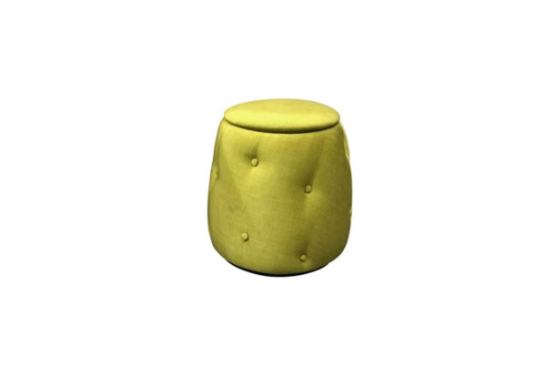 Philos Beauty Stool with Storage Yellow 6