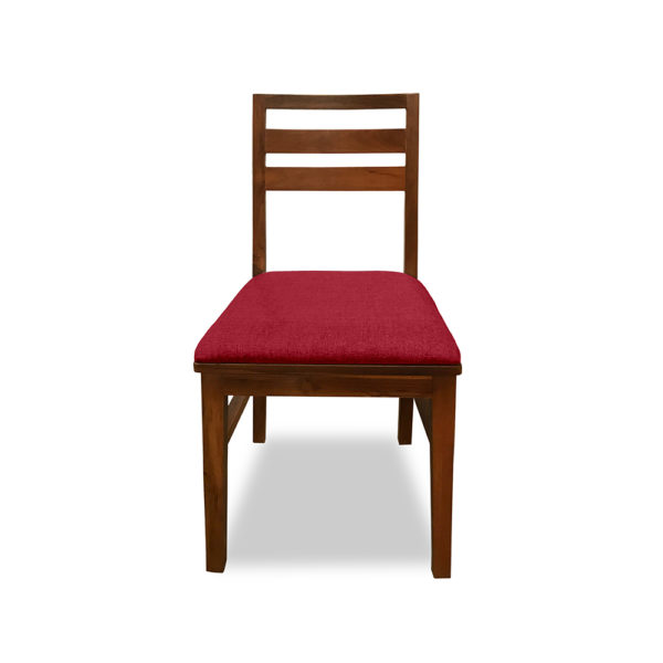 Chair Milton Teak FRONT VIEW RED