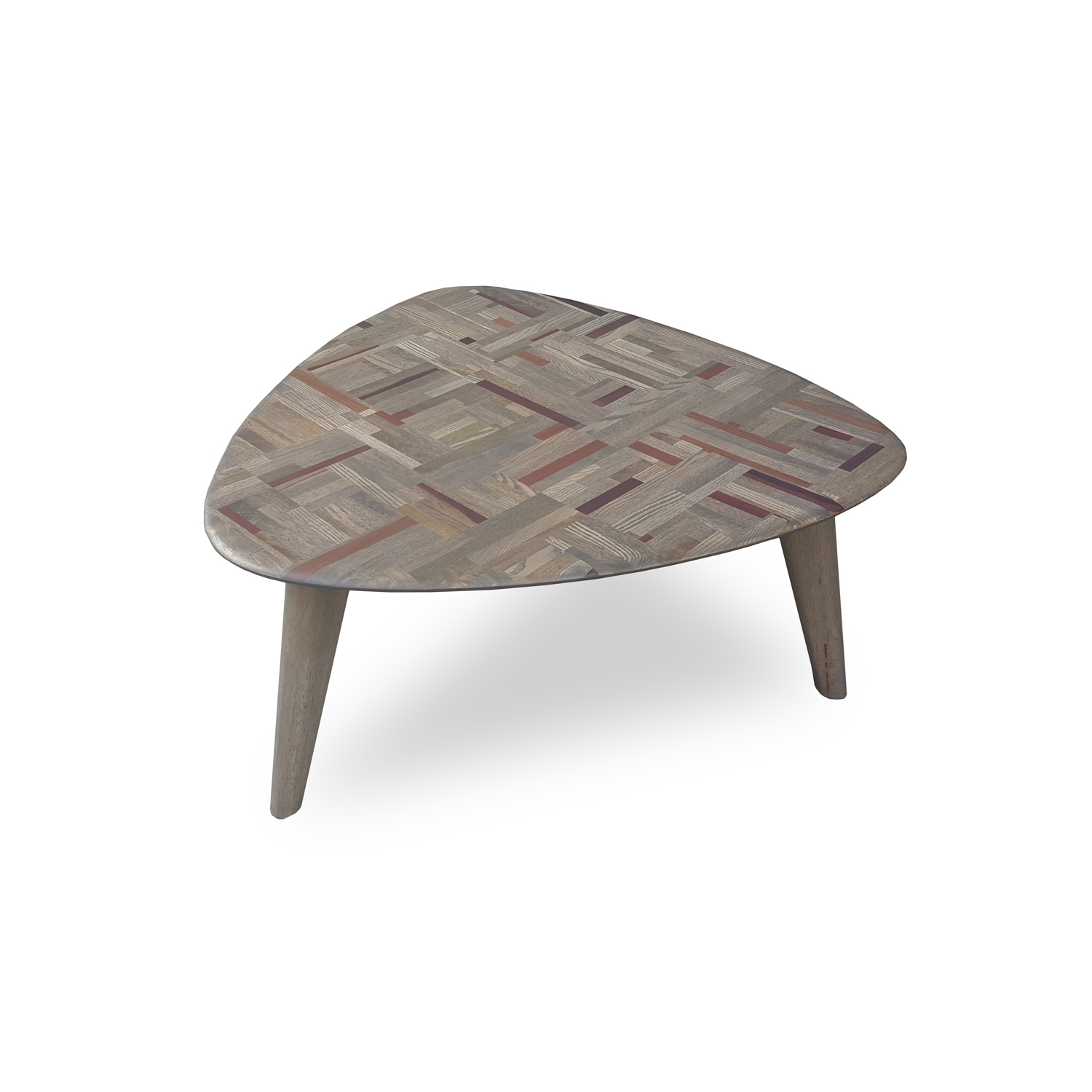 Triangle Coffee Table Wood.Philos Retro Triangle Coffee Table Mixwood Cft110 Mix