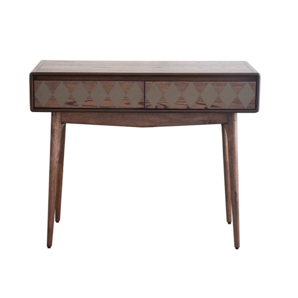 Philos Checker Console Table with 2 Drawer