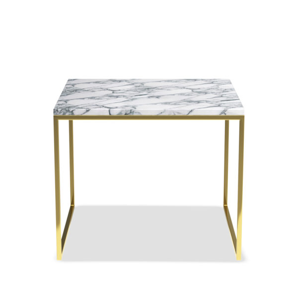 MARBLE TABLE GOLD FRONT