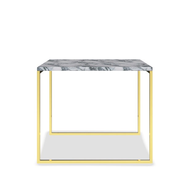MARBLE TABLE GOLD SIDE