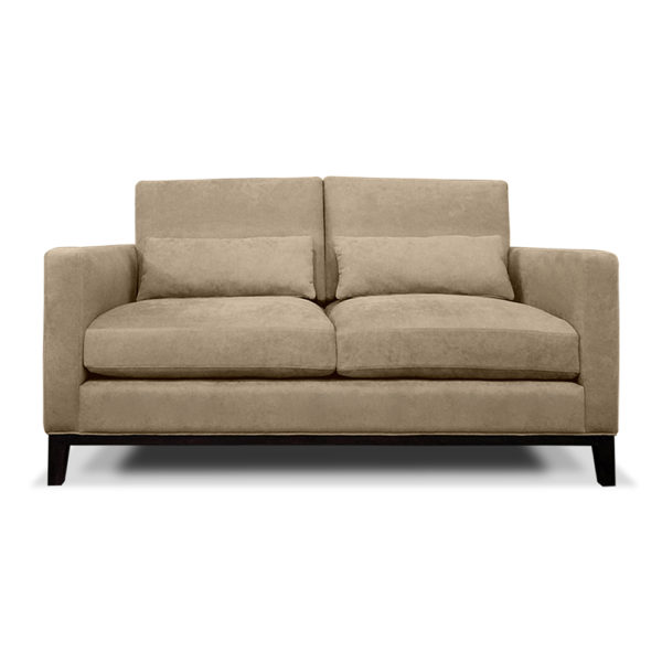 ARMANI 2.5 SEATER SOFA FRONT VIEW BEIGE