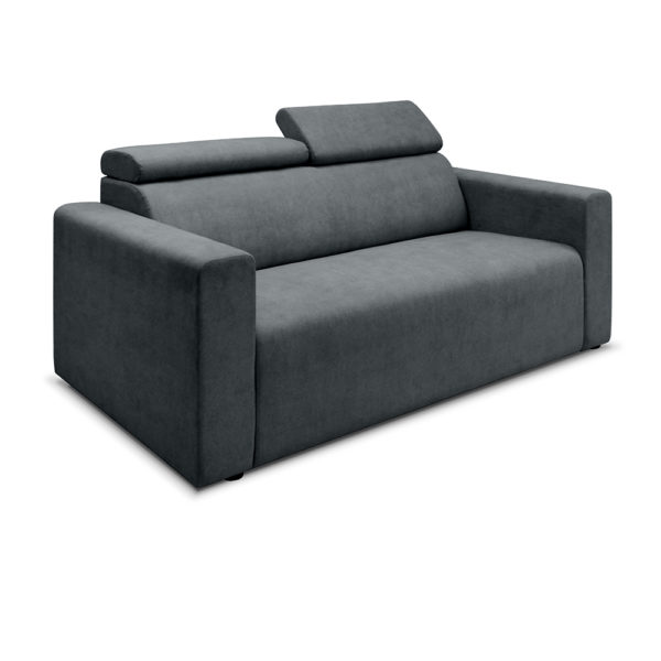 angle view recliner dk grey