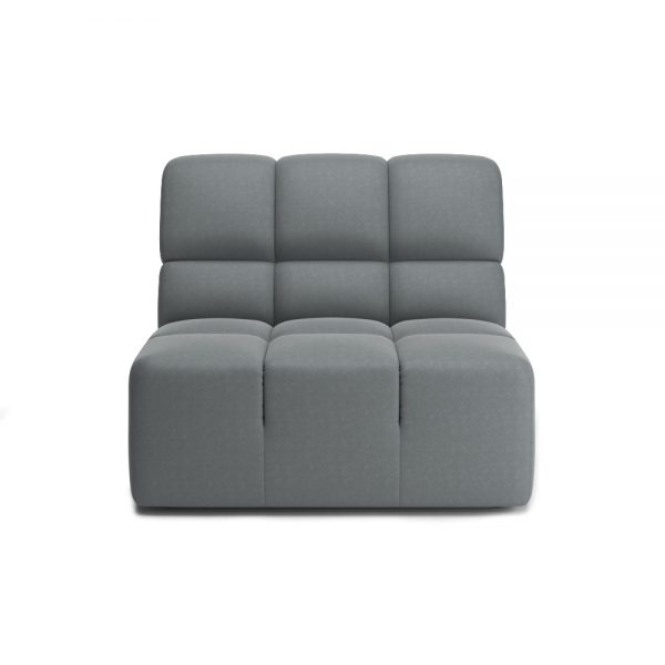 ROGER ARMLESS CHAIR VIEW FRONT GREY
