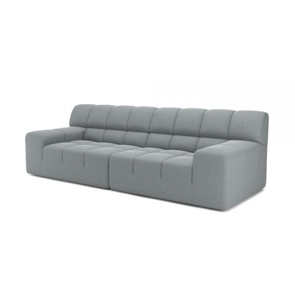 ROGER 2 SEATER SOFA VIEW ANGLED GREY