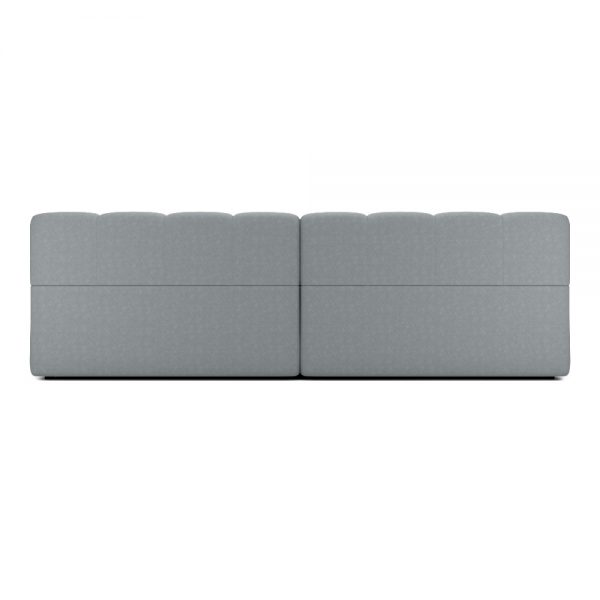 ROGER 2 SEATER SOFA VIEW BACK GREY