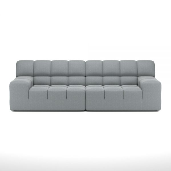 ROGER 2 SEATER SOFA VIEW FRONT GREY