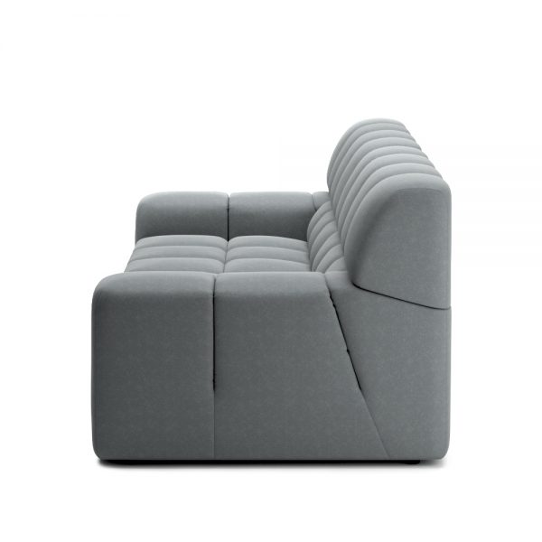 ROGER 2 SEATER SOFA VIEW SIDE GREY