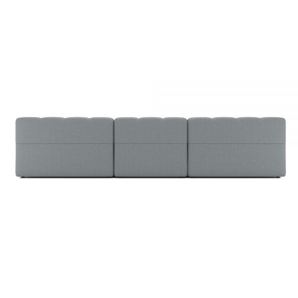 ROGER 4 SEATER SOFA VIEW BACK GREY