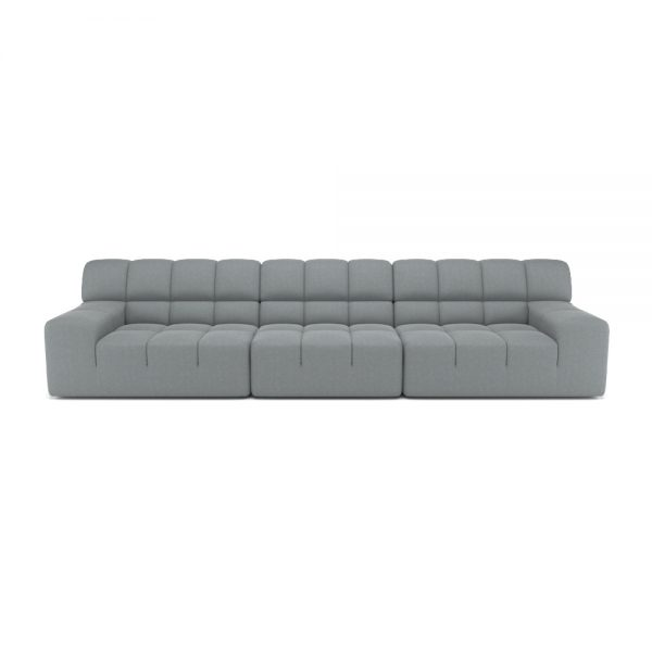 ROGER 4 SEATER SOFA VIEW FRONT GREY