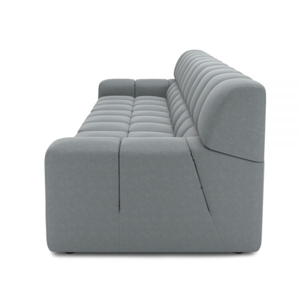 ROGER 4 SEATER SOFA VIEW SIDE GREY