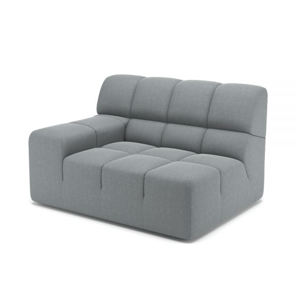 ROGER SIDE ARMCHAIR VIEW ANGLED GREY