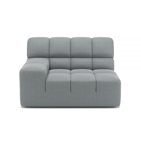 ROGER SIDE ARMCHAIR VIEW FRONT GREY