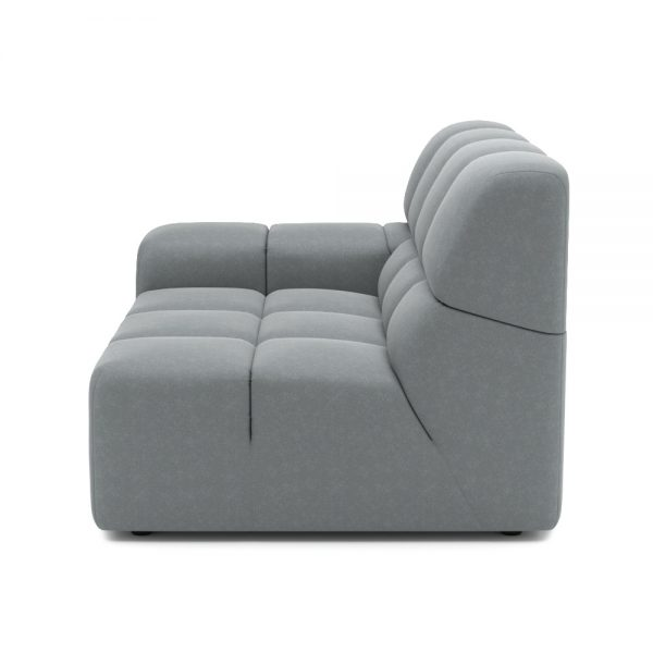 ROGER SIDE ARMCHAIR VIEW SIDE GREY